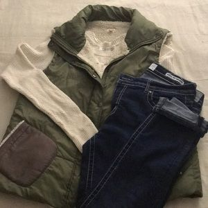 Echo- wool lined puffy vest